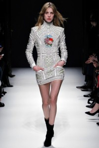 Elise-Neal-Wears-Inspired-Balmain-Fall-2012-Dress-on-The-Real-